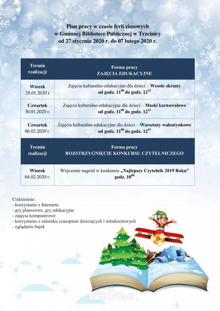 Plan pracy w czasie ferii zimowych 2020-1 - Kopia